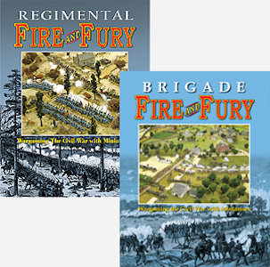 Regimental and Brigade Fire and Fury Rulebooks